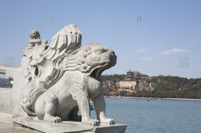 Sculpture at the Summer Palace in Beijing, China