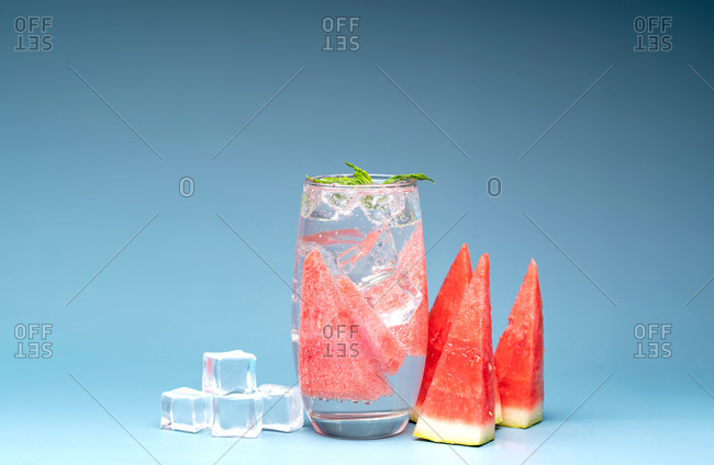 Watermelon bubble water looking refreshing