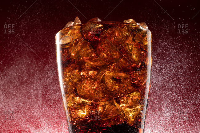 Cup of cola with ice