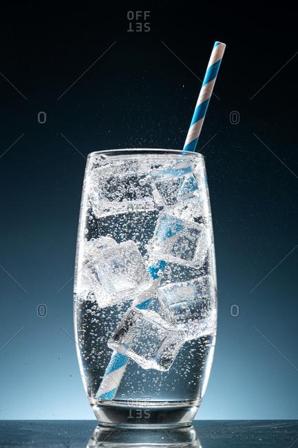 Shot of a refreshing soda drink