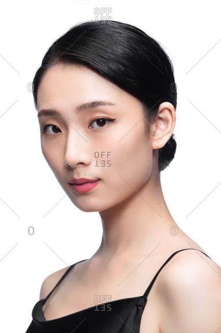Beauty makeup face portrait styled