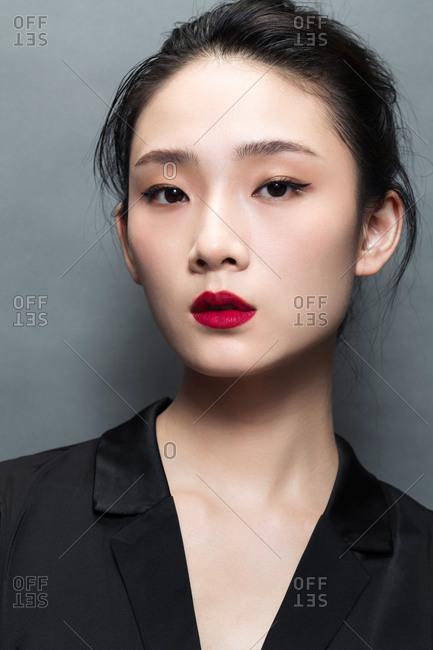 Shot of woman in a beauty portrait