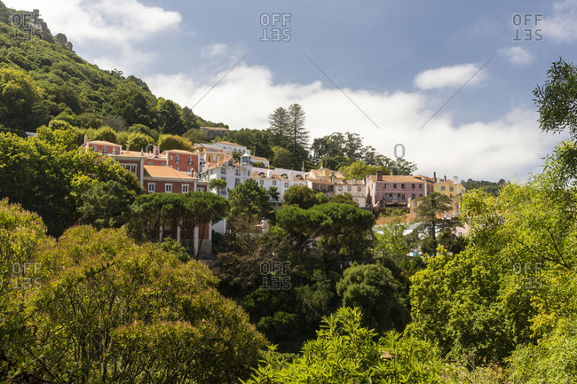Beautiful view of historic buildings in Sintra city center