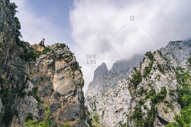 Mountain peak at Ruta Del Cares- Asturias- Spain