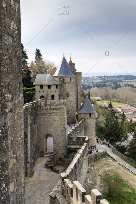 March 3, 2019: Historic fortification city of- Carcassonne- Languedoc-Roussillon- France