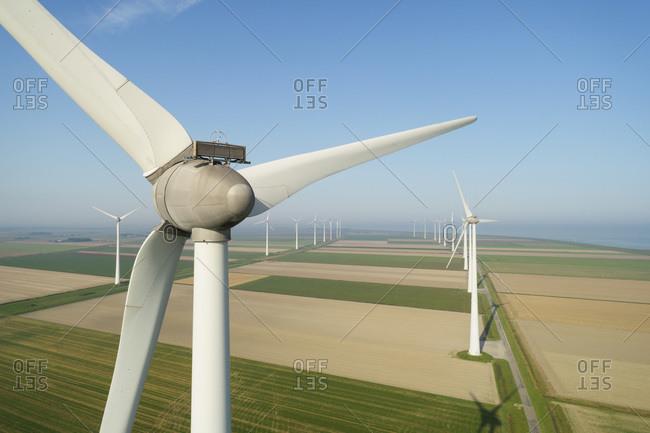 Wind turbines in the Eemshaven area, Netherlands