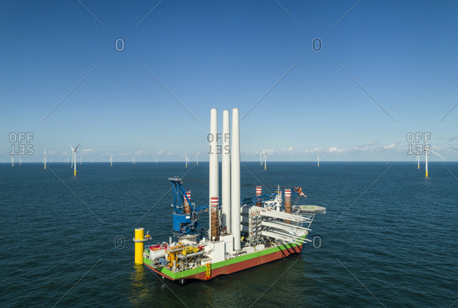 Very large offshore wind farms being built in the Netherlands
