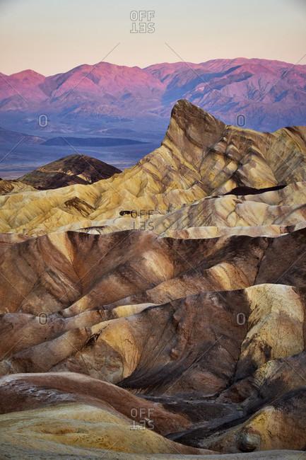 USA, United States of America, Nevada,  Death Valley National Park, Zabriskie Point, Sierra Nevada, California
