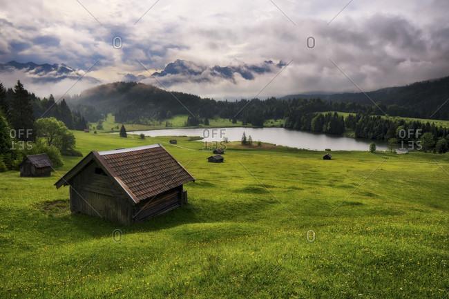 Germany, Bavaria, Kruen, Geroldsee Lake, Wagenbruech Lake, Europe