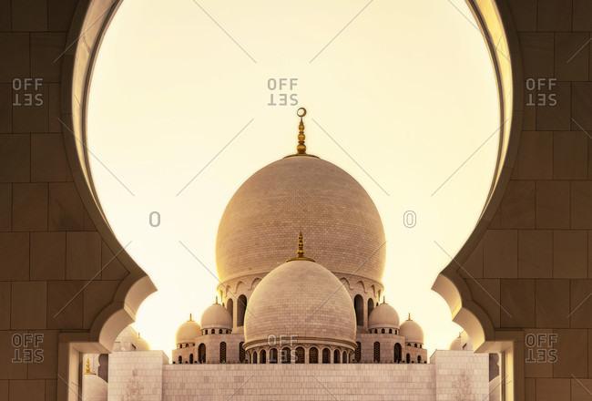 United Arab Emirates, Abu Dhabi, Grand Sheikh Zayed Mosque, Middle East,