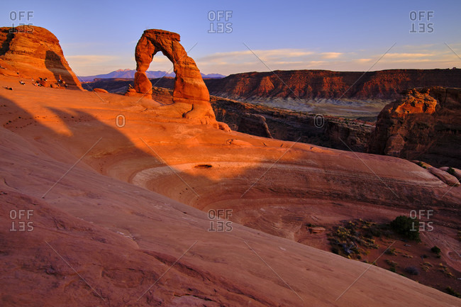 USA, United States of America, Utah, Arches National Park, Moab, Delicate Arch Trail,