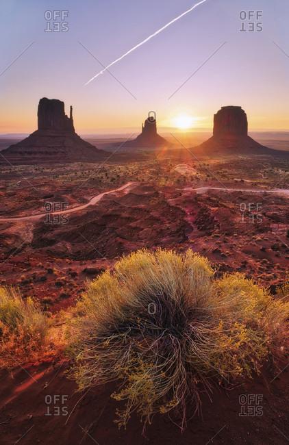 USA, United States of America, Monument Valley, Navajo Reserve, Utah, Colorado Plateau, Mexican Hat, Four Corner Region, Olijato, Arizona