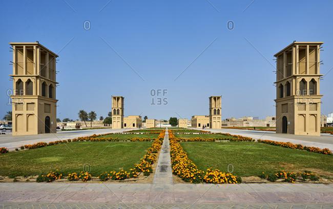 November 21, 2016: Dubai, UAE, Emirates, United Arabic Emirates, Middle East, Africa, Dubai Shindagha, Heritage Village, Dubai Creek, Desert Zone