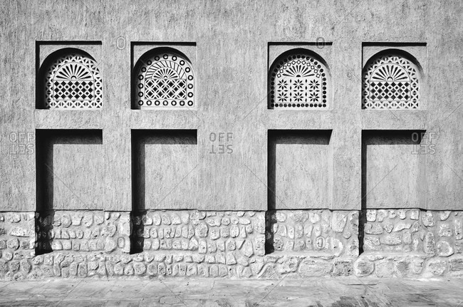 Dubai, UAE, Emirates, United Arabic Emirates, Middle East, Africa, Oriental wall with pattern