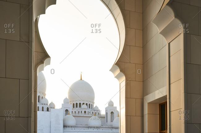 November 23, 2016: Abu Dhabi, UAE, Emirates, United Arab Emirates, Africa, Middle East, Grand Sheikh Zayed Mosque,