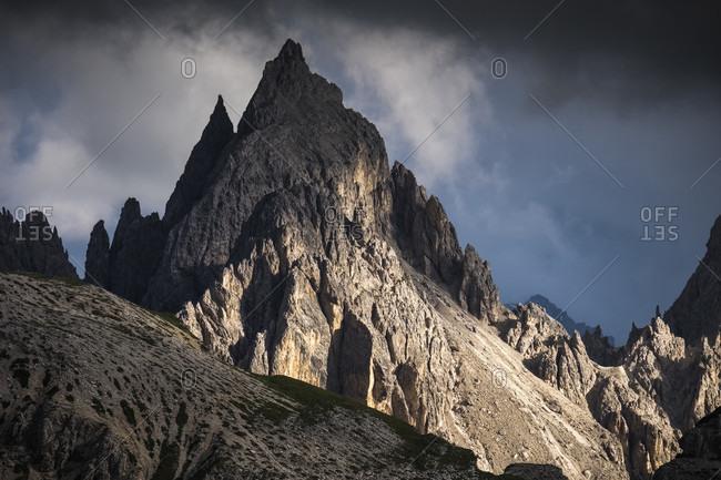 Tre Cime di Lavaredo, Sexten, Belluno, Rifugio Auronzo, South Tyrol, Dolomites, Italy,