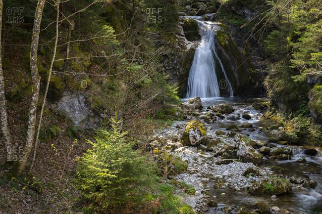 Europe, Germany, Bavaria, Chiemgau, Bavarian Alps, Heuberg, Inntal, Waterfall