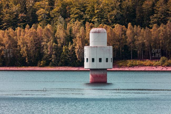 Europe, Bavaria, Bavarian Forest, National Park, Trinkwassertalsprerre, Frauenau, Water Reservoir, Tower
