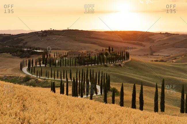 Europe, Italy, Agriturismo Baccoleno,Tuscan Landscape, Province of Siena