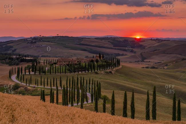 Europe, Italy, Agriturismo Baccoleno, Tuscan Landscape, Province of Siena