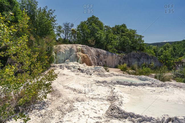 Europe, Italy, Tuscany, Thermal Bath, thermal spring, hot spring, Bagni San Filippo, Castiglione d'Orcia
