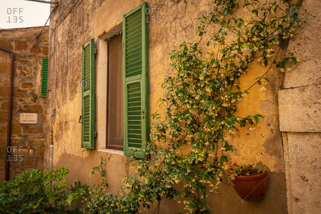 June 24, 2020: Europe, Italy, Tuscany, Tuscan Landscape, Province of Grosseto, Pitigliano, Oldtown, Etrusk Town,