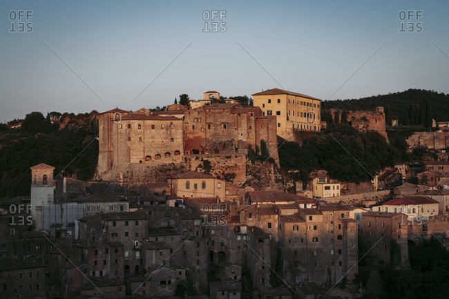 Europe, Italy, Tuscany, Tuscan Landscape, Province of Grosseto, Sorano, Oldtown, Etrusk Town,