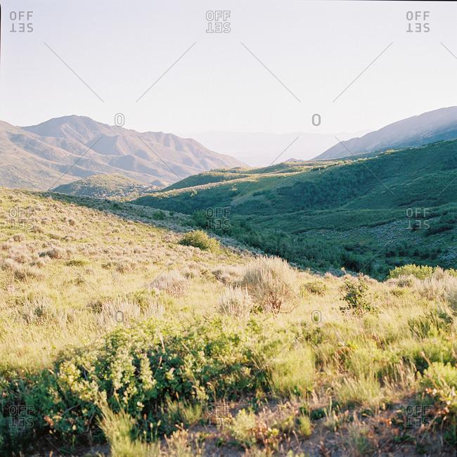 Mountains landscape in rural Utah, USA