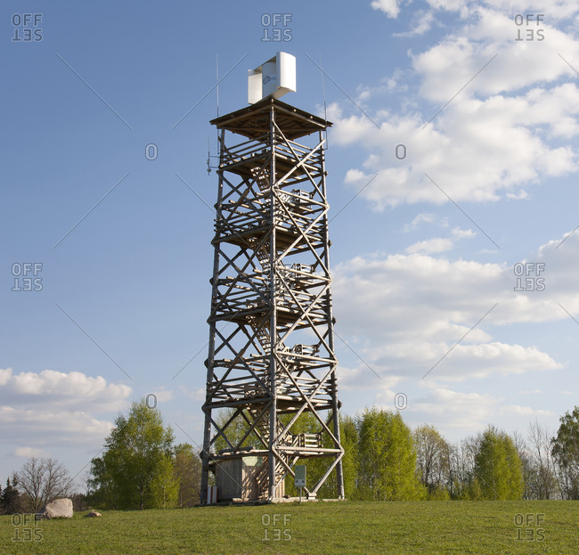 A metal structure, a communications tower.