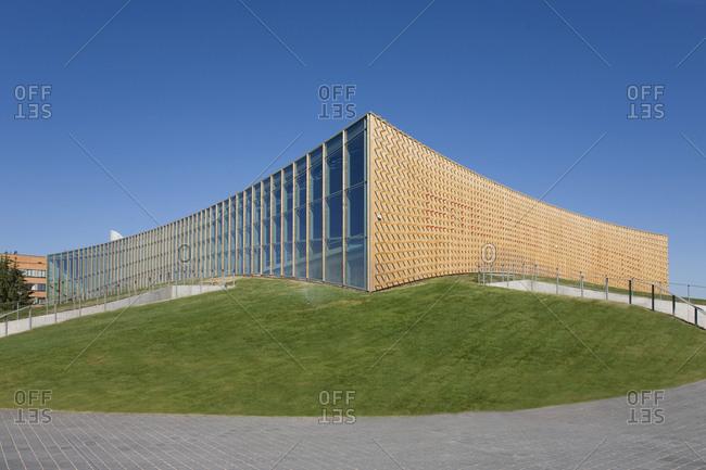 Tartu, Estonia - September 22, 2020: Abstract Exterior of a University Sports Club