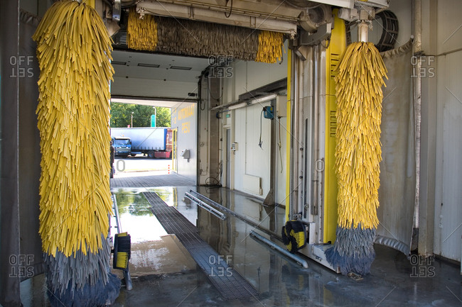 Estonia - September 22, 2020: Car Wash Interior
