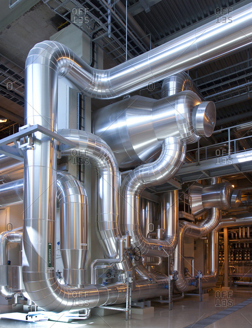 Industrial Pipes in a Power Plant