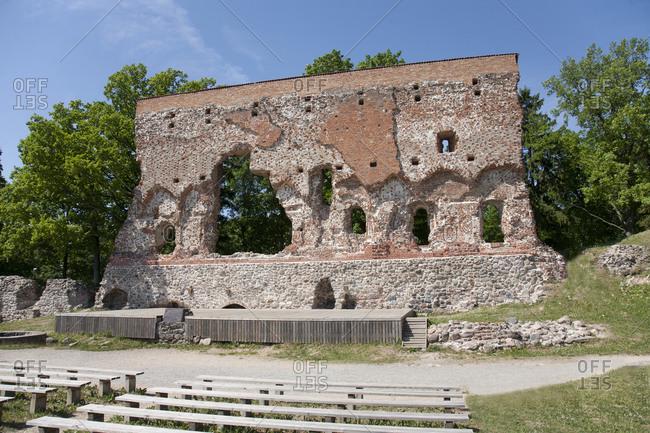 Concert Arena, historic ruin and rubble
