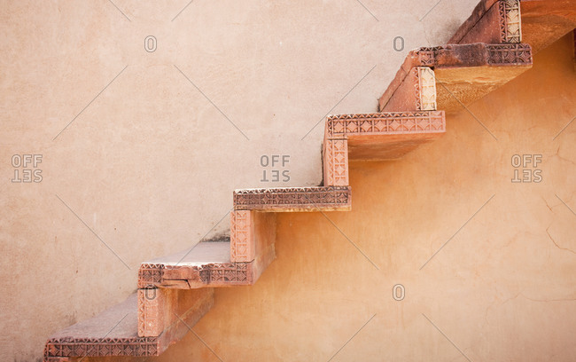 Steps on an Exterior Wall