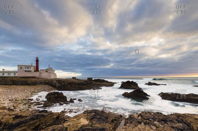 Cabo raso lighthouse at sunset, sintra-cascais nature park, sintra, greater lisbon, Portugal