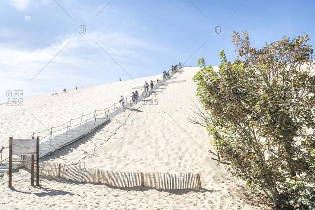 April 4, 2020: France, arcachon, dune du pilat