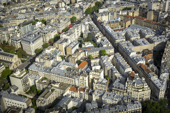 April 14, 2019: Paris panorama, france