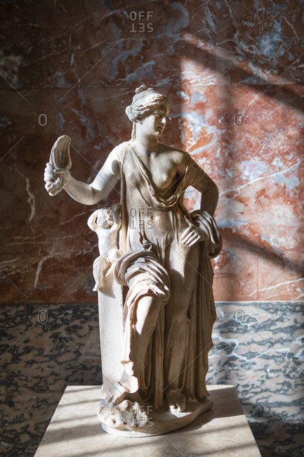 April 14, 2019: Venus vulgaire in the louvre, paris, france