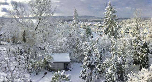Winter landscape in Franconia, Beautiful views.