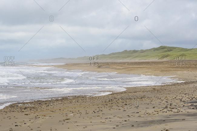 Beach at storm, Kitzmiller, national park thy, north sea, north Jutland, Denmark