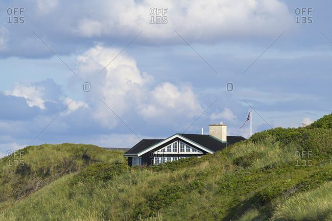 Holiday homes in the dunes, Kitzmiller, national park thy, north sea, north Jutland, Denmark