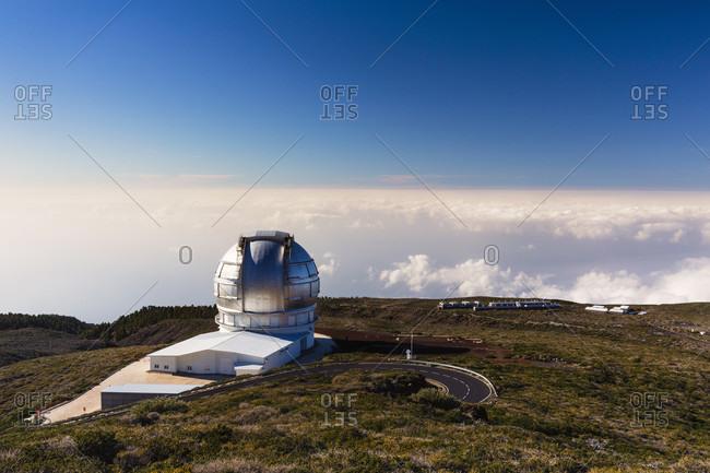Observation facilities at roque de los muchachos, parque nacional de la taburiente