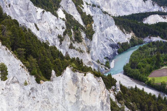 Ruinaulta, a natural canyon of the river rhine