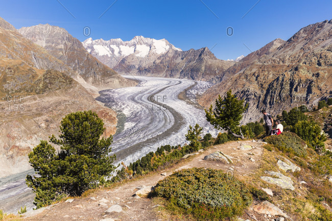 Aletsch glacier, jungfrau region, unesco world heritage region, autumn