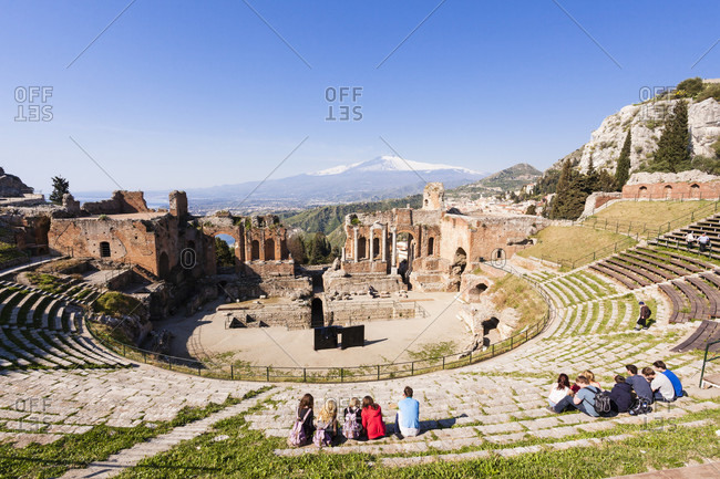 March 28, 2017: Greek amphitheatre and mount etna