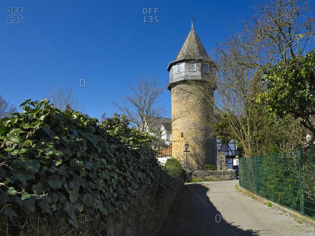 Europe, germany, hesse, lahn-dill-bergland nature park, city of herborn, the hexenturm on ottostraße