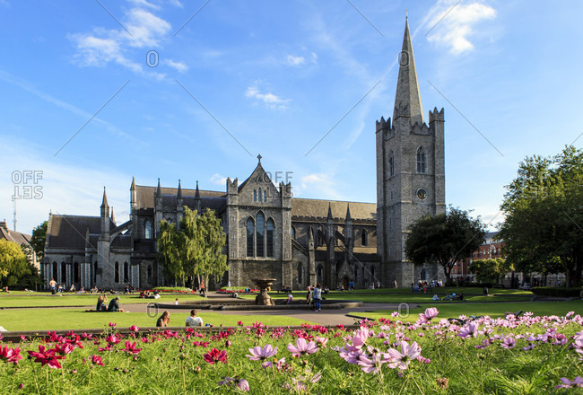 July 16, 2017: Dublin, republic of ireland, st. patrick's cathedral