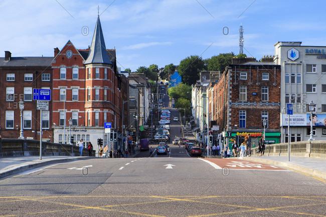 July 18, 2017: Street in cork, republic of ireland.