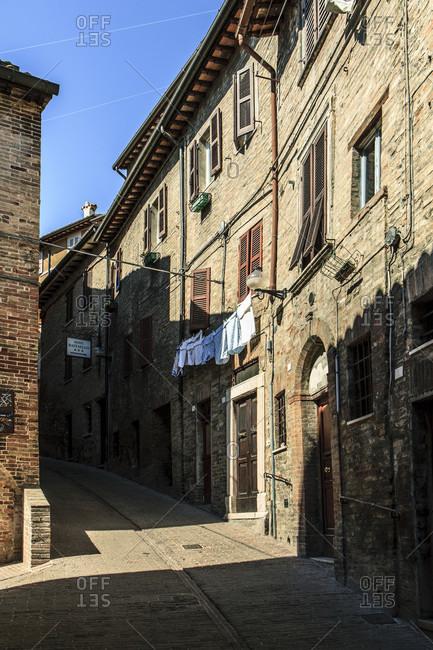 September 6, 2017: Urbino, italy. historical district.