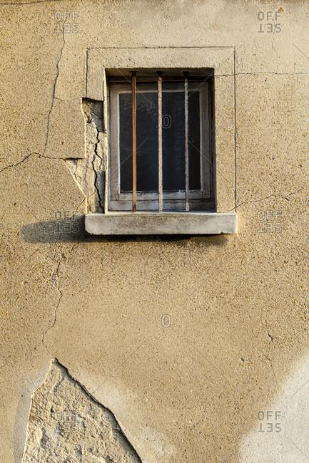 Window grille, roissy-en-france, france, europe